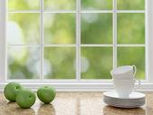 White kitchen design. — Stock Photo