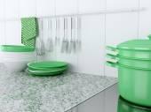 Kitchen utensils on the worktop. — Stock Photo