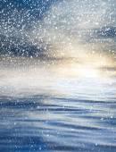 Nubi con riflesso sull'acqua — Foto Stock