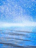 Mraky s odrazem na vodě — Stock fotografie