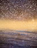 облака с отражения на воде — Стоковое фото