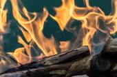 Flame of fire as the background — Stock Photo