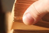Pages book, macro — Stock Photo