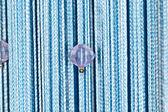 Arka plan mavi iş parçacığı perdeler — Stok fotoğraf