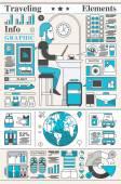 Infographic Travel Elements — Stock Vector