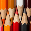 Many different colored pencils. Close-up macro. — Stock Photo #57377809