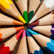 Many different colored pencils. Close-up macro. — Stock Photo #57377887