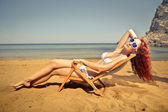 Basking in the sun — Stock Photo