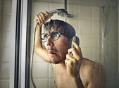 In the shower — Stock Photo