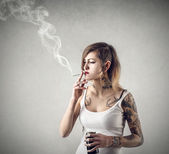 Vices in hand — Stock Photo