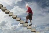 Steps in the air — Stock Photo