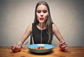 Большие спагетти — Стоковое фото
