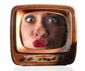 Zoom television — Stock Photo
