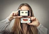 目と口 — ストック写真