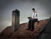 On the roof — Stock Photo