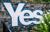 Scottish Independence Referendum Sign — Stock Photo