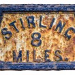 Stirling Mile Marker Sign — Stock Photo #52342391