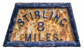 Stirling Mile Marker Sign — Stock Photo