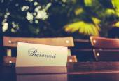 Vintage Reserved Restaurant Table — Stock Photo