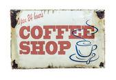 Retro Vintage Coffee Shop Sign — Stock Photo