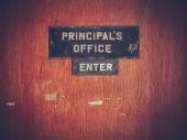 Retro Grunge Principal Office — Stock Photo