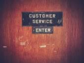客户服务标志 — 图库照片
