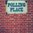 Polling Place Sign On Wall — Stock Photo #53589549