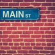 Retro Main Street Sign — Stock Photo #53653801