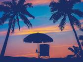 Retro Beach Umbrella — Stock Photo