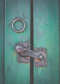 Retro Rustic Door Latch — Stock Photo