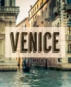 Retro Venice Grand Canal Poster — Stock Photo
