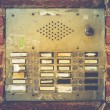 Retro Grungy Apartment Buzzer System — Stockfoto #59619321