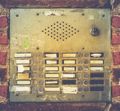Retro Grungy Apartment Buzzer System — Stockfoto