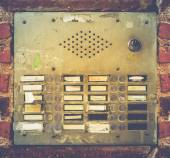 Retro Grungy Apartment Buzzer System — ストック写真