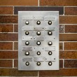 Retro Grungy Apartment Intercom — Stok fotoğraf #61754743