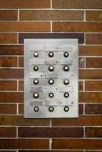 Retro Grungy Apartment Intercom — Stock Photo