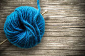 Retro Wool And Knitting Needle — Stock Photo