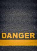 Danger Asphalt Road Markings — Stock Photo