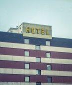Retro Vintage Ugly Hotel — Stock Photo