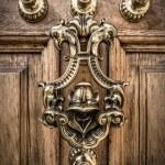 Decorative Brass Door Knocker — Stock Photo #65967539