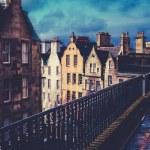 Retro Old Town Edinburgh Buildings — Stock Photo #69689383