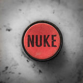 Red Nuke Button — Stock Photo