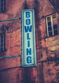 Bowling Sign — Stock Photo