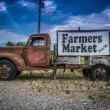 Vintage Truck Farmers Market Sign — Stock Photo #78083938