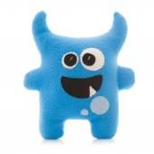 Coloful Hand Made Monster on a White Background — Stock Photo