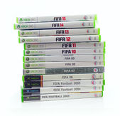 Collection of FIFA Football games  — Stock Photo