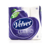 Velvet toilet rolls — Stock Photo