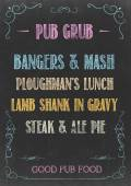 PUB GRUB MENU — Stock Photo