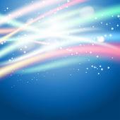 Light strokes on blue background — Stockvector