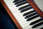Old piano keys — Stock Photo